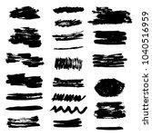 set of grunge brush stroke. ink ... | Shutterstock .eps vector #1040516959