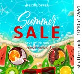 summer sale promo background... | Shutterstock .eps vector #1040517664