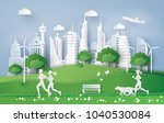 illustration of eco concept... | Shutterstock .eps vector #1040530084