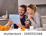 a married couple in love... | Shutterstock . vector #1040531368