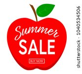 summer sale template poster or... | Shutterstock .eps vector #1040534506