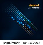 fiber optic connection concept... | Shutterstock .eps vector #1040537950