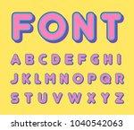 colorful bold trendy alphabet ... | Shutterstock .eps vector #1040542063