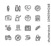 vaccination thin line icons set | Shutterstock .eps vector #1040544268