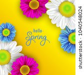 colorful spring background with ... | Shutterstock . vector #1040548024