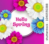 colorful spring background with ... | Shutterstock . vector #1040550388