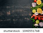 the background of cooking.... | Shutterstock . vector #1040551768