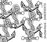 pattern sketch anchor in vector  | Shutterstock .eps vector #1040555473