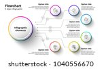 business process chart... | Shutterstock .eps vector #1040556670