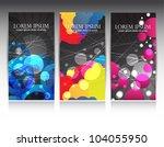 vertical web banners | Shutterstock .eps vector #104055950