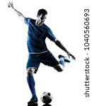 one caucasian soccer player man ... | Shutterstock . vector #1040560693