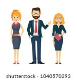 company  group  partners ... | Shutterstock .eps vector #1040570293