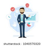 businessman leader  successful... | Shutterstock .eps vector #1040570320