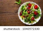 various fresh mix salad leaves... | Shutterstock . vector #1040572330
