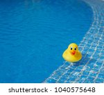 Yellow Rubber Duck In Blue...