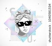 trendy sculpture modern design | Shutterstock .eps vector #1040581534