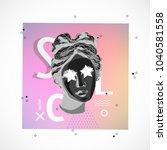 trendy sculpture modern design | Shutterstock .eps vector #1040581558