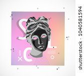 trendy sculpture modern design | Shutterstock .eps vector #1040581594