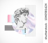 trendy sculpture modern design | Shutterstock .eps vector #1040581624