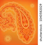 oriental turkish paisley... | Shutterstock .eps vector #1040582029