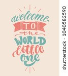 hand drawn lettering welcome to ... | Shutterstock .eps vector #1040582590