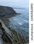 cliffs on a seashore | Shutterstock . vector #1040582890
