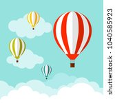 balloon in the sky with clouds. ... | Shutterstock .eps vector #1040585923