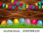 vector realistic decorated...   Shutterstock .eps vector #1040588134