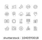 set of data processing outline... | Shutterstock .eps vector #1040593018