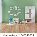 baby room modern and new style. ... | Shutterstock . vector #1040593594