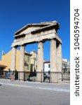 Small photo of August 26, 2017, Athens, Attica, Greece. Roman Agora. Popular touristic european destination. Athens city view