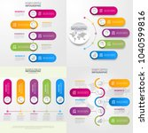 business infographics  strategy ... | Shutterstock .eps vector #1040599816