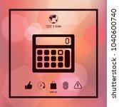 calculator symbol icon | Shutterstock .eps vector #1040600740