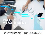 project management on the... | Shutterstock . vector #1040603320
