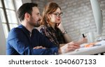 portrait of young designers... | Shutterstock . vector #1040607133