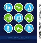 building icons | Shutterstock .eps vector #104060870