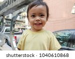 asian baby girl happy and smile. | Shutterstock . vector #1040610868