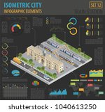 3d isometric train station and... | Shutterstock .eps vector #1040613250