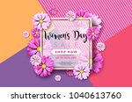 happy mothers day greeting card ... | Shutterstock .eps vector #1040613760