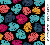 vector tropical pattern with... | Shutterstock .eps vector #1040618404