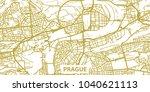 detailed vector map of prague... | Shutterstock .eps vector #1040621113