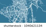 detailed vector map of kosice ...   Shutterstock .eps vector #1040621134