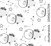baby seamless pattern   fish in ... | Shutterstock .eps vector #1040621704