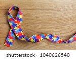 world autism awareness and... | Shutterstock . vector #1040626540