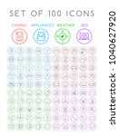 set of 100 minimal universal... | Shutterstock .eps vector #1040627920