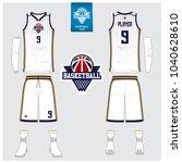 basketball jersey or sport... | Shutterstock .eps vector #1040628610