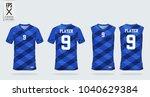 blue t shirt sport design... | Shutterstock .eps vector #1040629384
