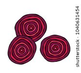ripe beet   round slices of... | Shutterstock .eps vector #1040631454