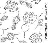 seamless background of ripe... | Shutterstock .eps vector #1040631490