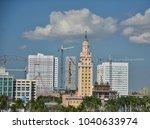 miami downtown landmark city... | Shutterstock . vector #1040633974